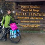 Yu Yang starting his America journey in Ushuaia, Argentina
